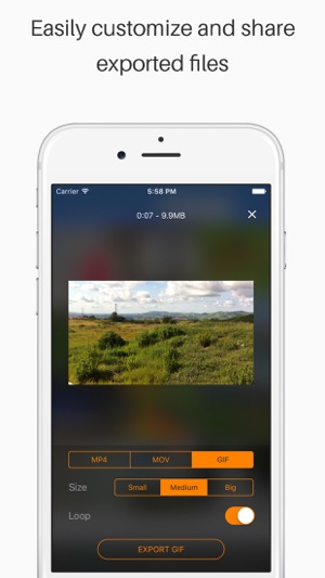 Live Share - Export Video and Live Photo to GIF, Movie & MP4