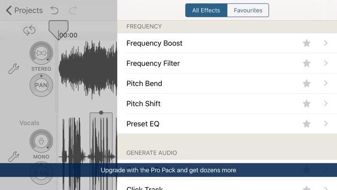 Hokusai Audio Editor Screenshot