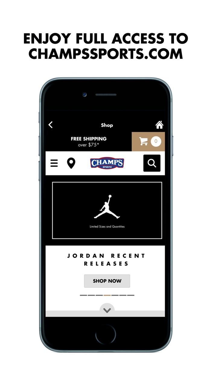 Champs Sports Screenshot