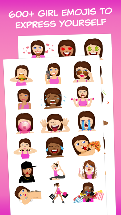 Girls Love Emoji – Extra Emojis For BFF Texting   App Price