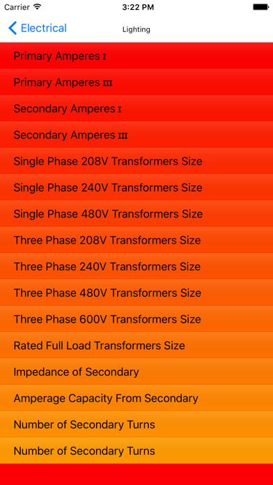 Electrical Formulator screenshot two