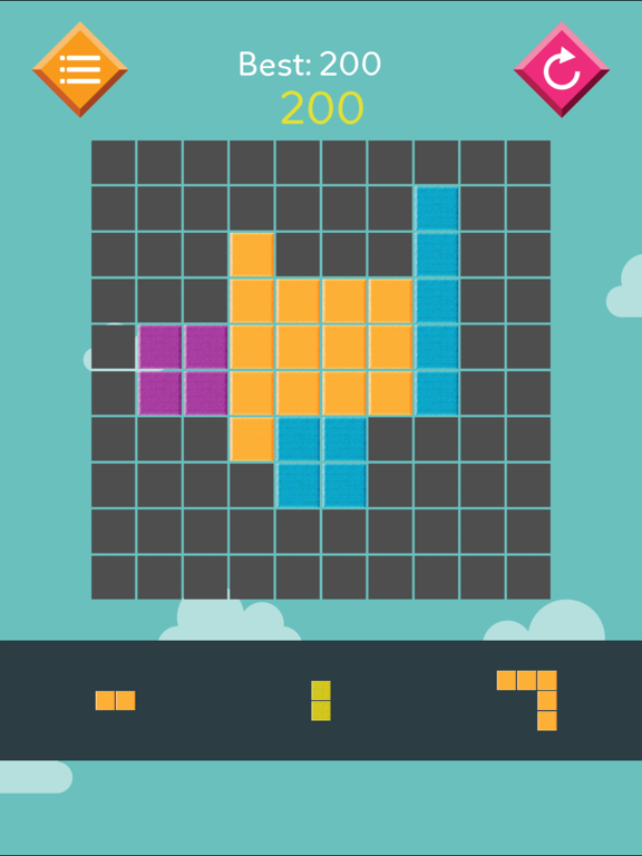 Slither Block Puzzle Grid: Snake cube triangle - block tintin