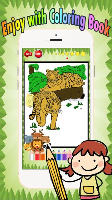 点击获取Wild animals Coloring Book: These cute zoo animal coloring pages provide learning skill games free for children and toddler any age