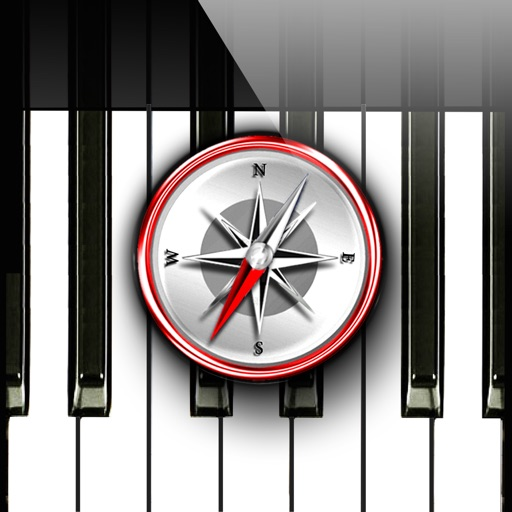 Piano Chords Compass - learn the chord notes & play them