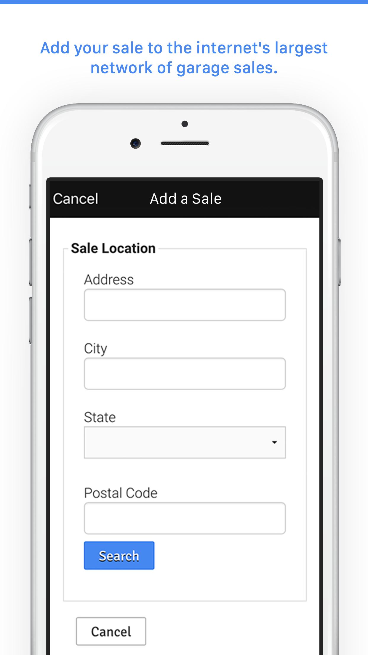 Garage Sales by Map - Free Screenshot