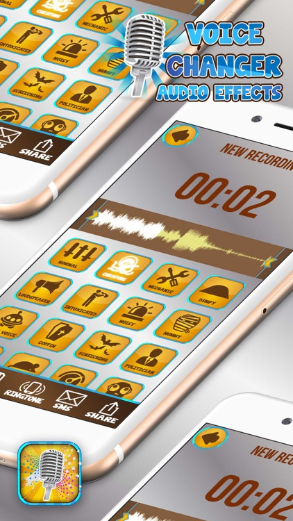 Voice Changer Audio Effects – Funny Sound Recorder Editor and Ringtone Maker