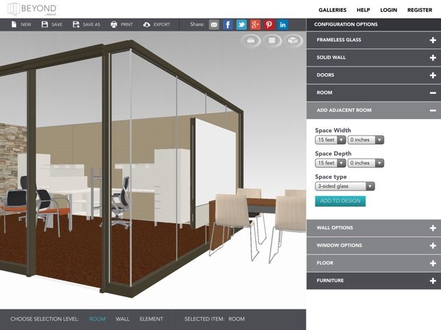 beyond configurator by allsteel interior design tool that takes you