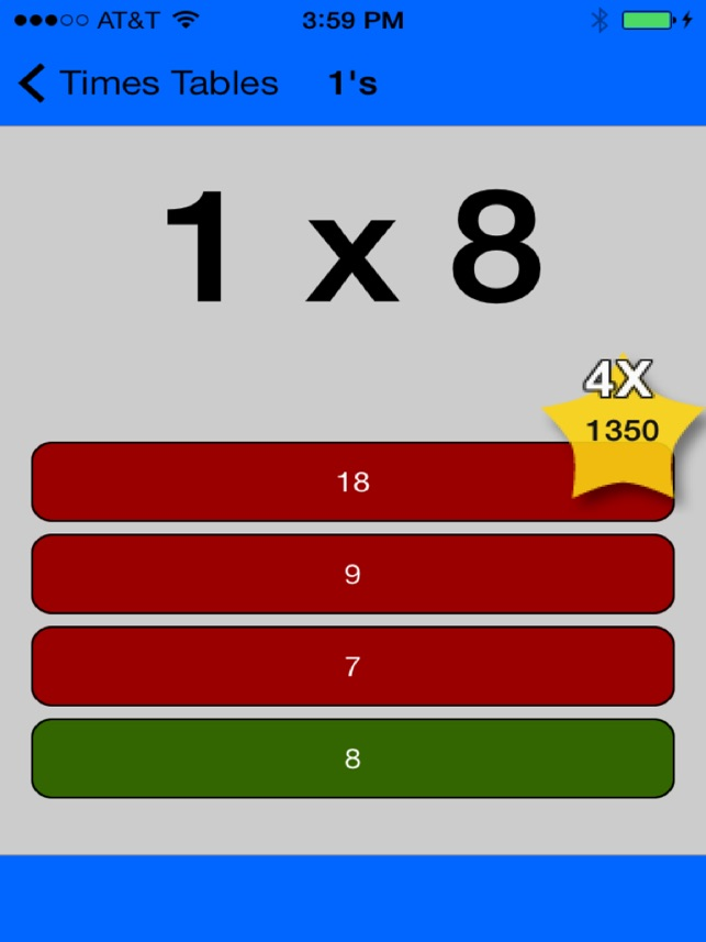 Times Tables Game Multiplication Study App On The App Store