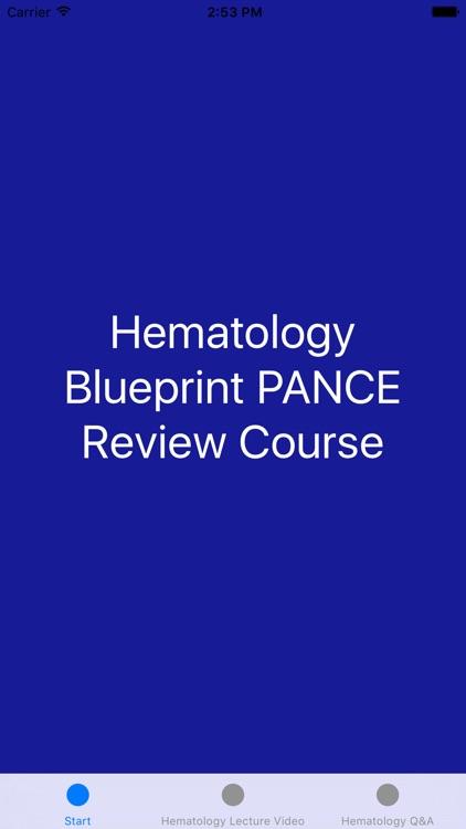 Hematology Blueprint PANCE PANRE Review Course