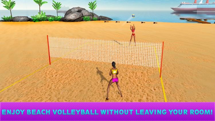 Girls Beach Volleyball Championship 3D Full screenshot-3