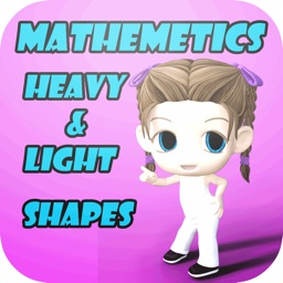Preschool Mathematics  : Learn Heavy - Light and Shapes early education games for preschool curriculum