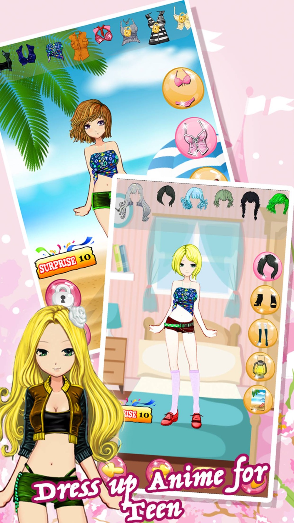 Dress Up Games For Teens Girls & Kids Free – the pretty princess and cute anime beauty salon makeover for girl