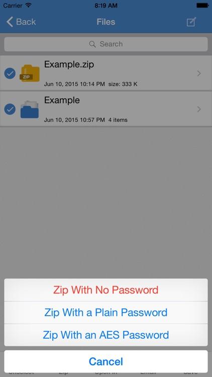 iZip Pro for iPhone – Zip Unzip Unrar