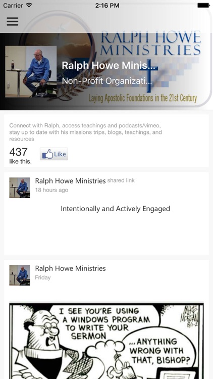 Ralph Howe Ministries screenshot-0