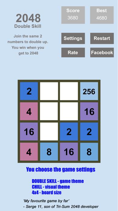 Tri-Sum 2048 - Fun & Cool Math Puzzle Addition Games including Fibonacci Numbers screenshot one