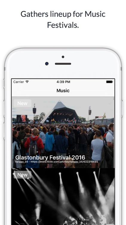 Meetrow - App gathers lineup for Music Festivals