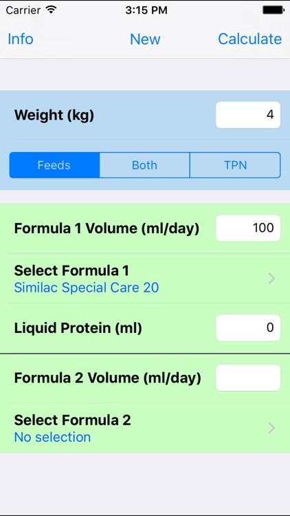 NICU Nutrition Calculator