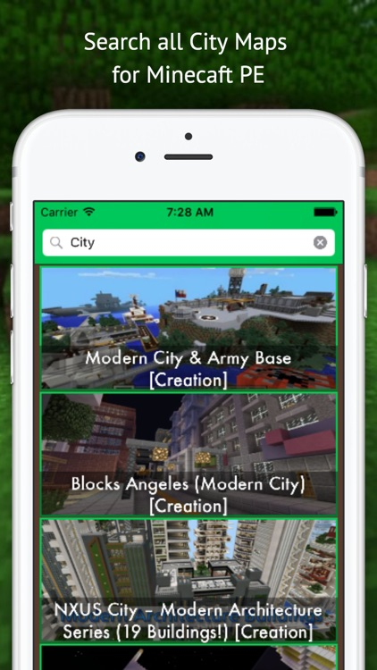 City Maps for Minecraft - Best Database Maps for minecraft Pocket Edition screenshot-3