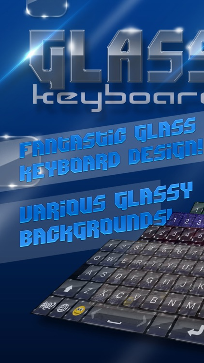 Glass Keyboard Design – Beautiful Keyboard Themes with Glassy Backgrounds and Fancy Fonts