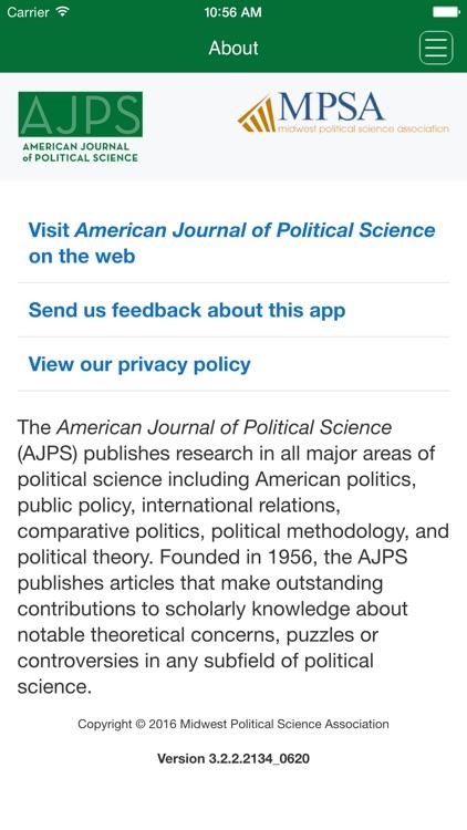 American Journal of Political Science screenshot-3