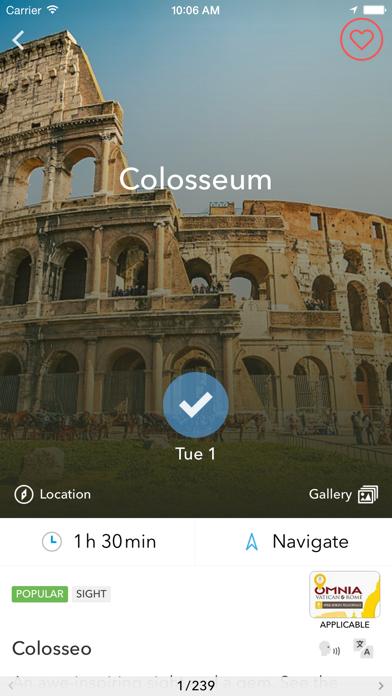 Screenshot of Trip planner Italia & Vaticano di Tripomatic, guide turistiche e mappe offline4