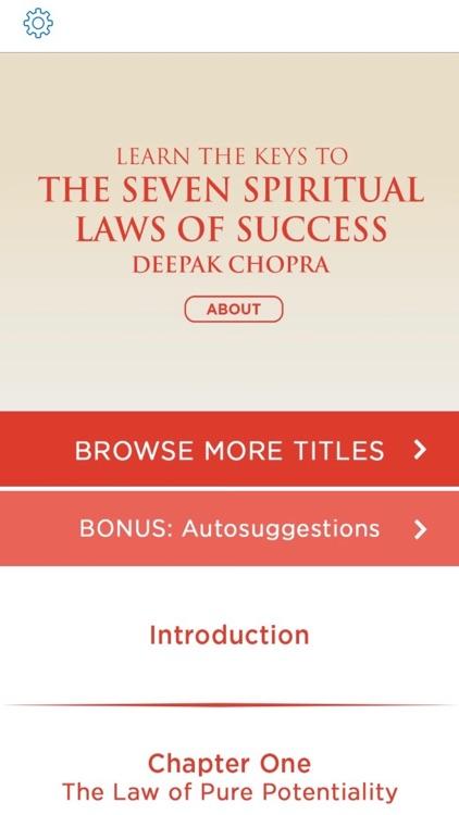 The Seven Spiritual Laws of Success  by Deepak Chopra Meditation Audiobook