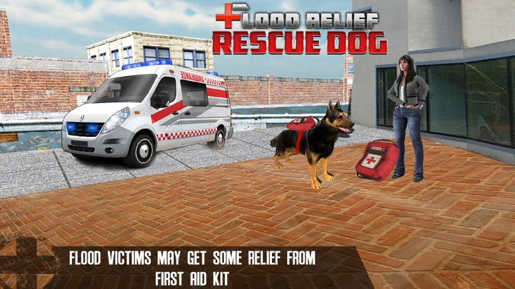 Flood Relief Rescue Dog : Save stuck people lives screenshot-1