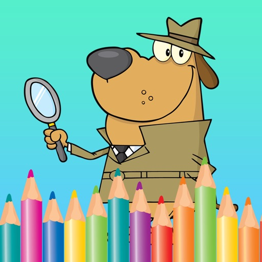 Free Coloring Book Game For Kids - Play Painting Cute Dog