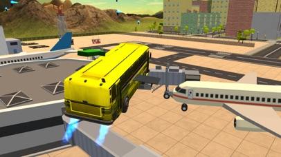 Flying Bus Driving Simulator - Racing Jet Bus Airborne Fever screenshot three