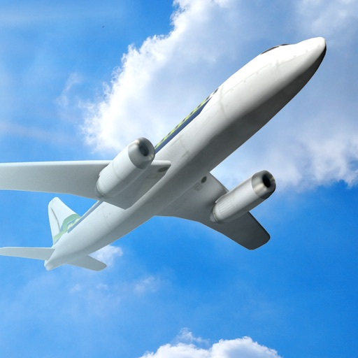 3D Infinite Airplane Flight - Free Plane Racing Simulation Game iOS App