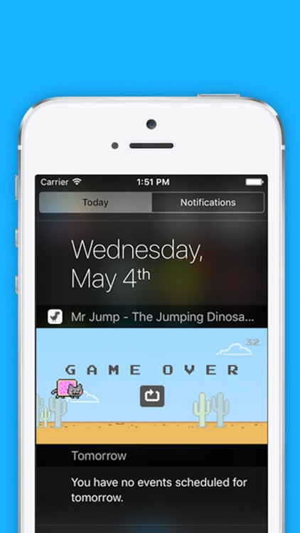 Mr Jump - The Jumping Dinosaur, T-Rex in Widget Game, Notification Center screenshot-3