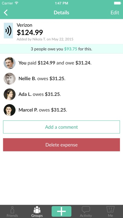 Splitwise - Split bills and expenses the easy way screenshot-3