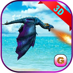 Flying Fire Dragon Flight Simulator 2016 – Train your blaze drake to fight jurassic war village