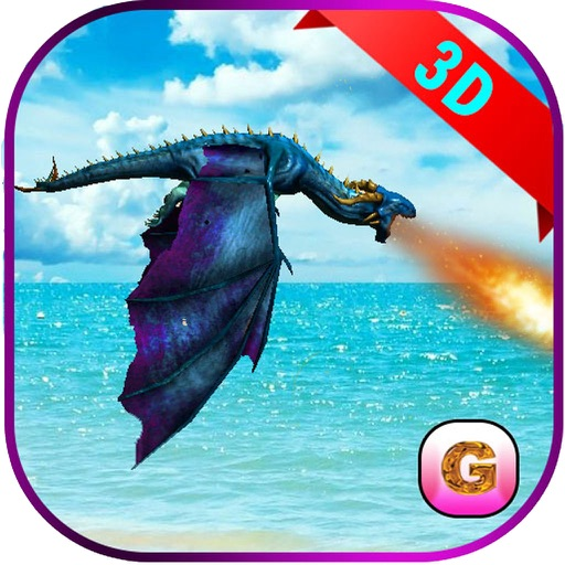 Flying Fire Dragon Flight Simulator 2016 – Train your blaze drake to fight jurassic war village