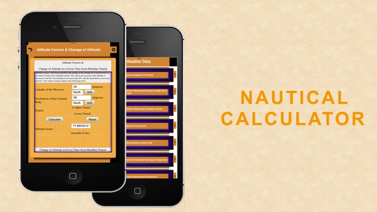 Nautical Calculator for mariners