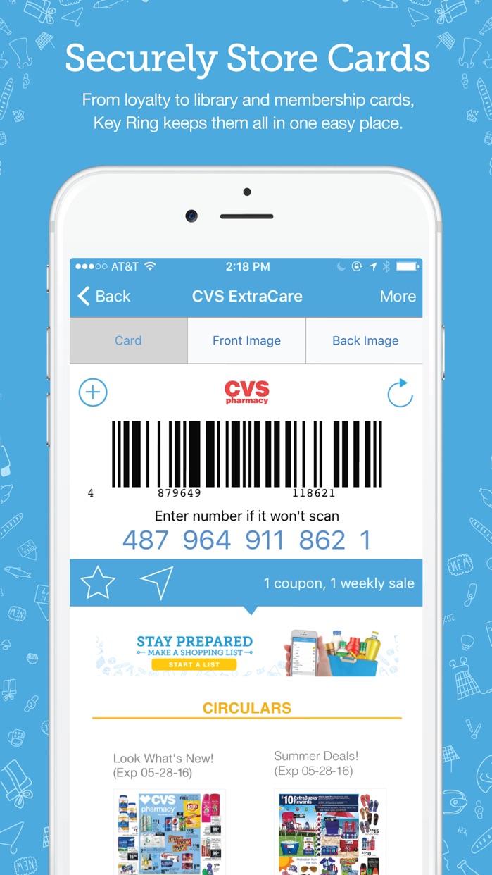 Key Ring Reward Cards Screenshot