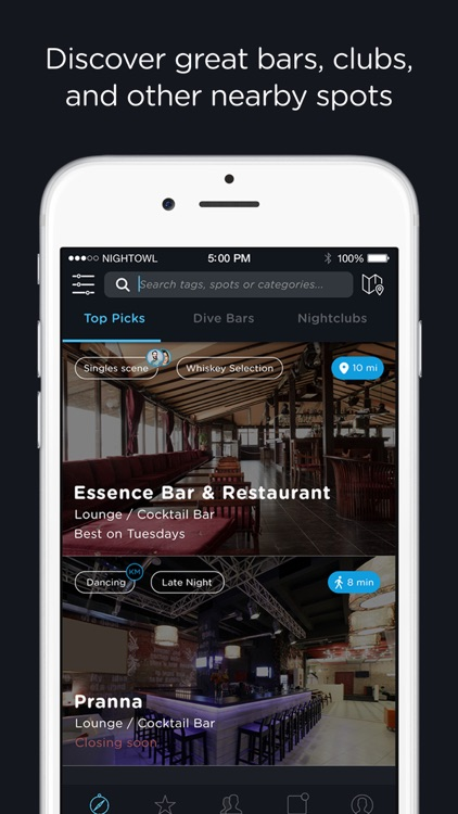 NightOwl – Find bars, clubs, lounges and nightlife