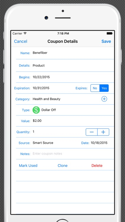 Track My Coupons - Scanner and Organizer screenshot-3