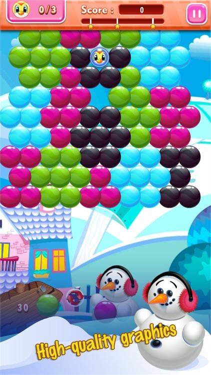Ice Bubble Shooter Snowman screenshot-3