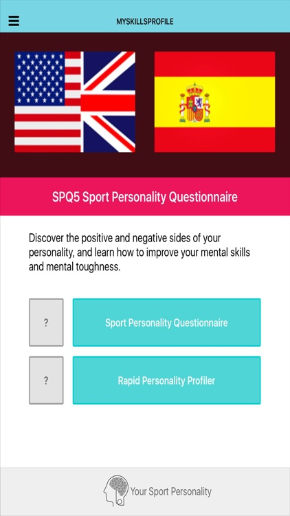 SPQ5 Sport Personality Questionnaire Pro