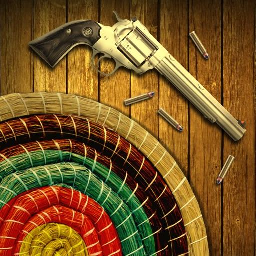 Полигон для стрельбы из револьвера: Точность & рефлекс Целевая съемки игры.