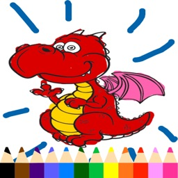 Dragon Coloring Book - Drawing Pages and Painting Educational Learning skill Games For Kid & Toddler