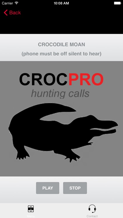 REAL Crocodile Calls & Crocodile Sounds! - BLUETOOTH COMPATIBLE screenshot-0