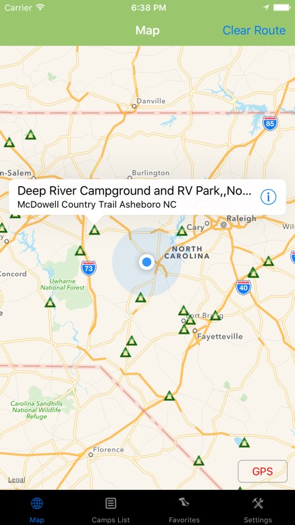 North Carolina – Camping & RV spots screenshot-0