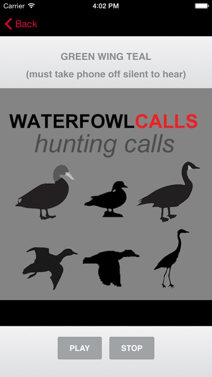Waterfowl Hunting Calls - The Ultimate Waterfowl Hunting Calls App For Ducks, Geese & Sandhill Cranes - BLUETOOTH COMPATIBLE screenshot-0