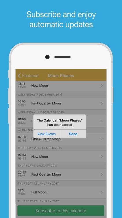Full Moon Calendar (MoonCal)