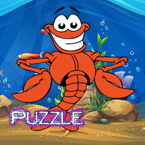 Lobster Sea Animals Jigsaw Puzzle Preschool and Kindergarten Learning Games ( 2,3,4,5 and 6 Years Old ) iOS App
