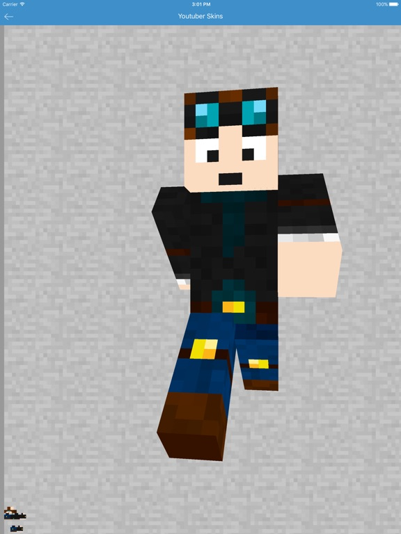 Youtuber Skins - Best for Minecraft PE Free App-ipad-1