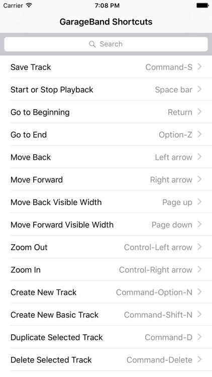 Shortcut: GarageBand Edition