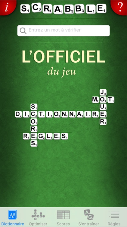 L'Officiel du SCRABBLE® Dictionnaire screenshot-0